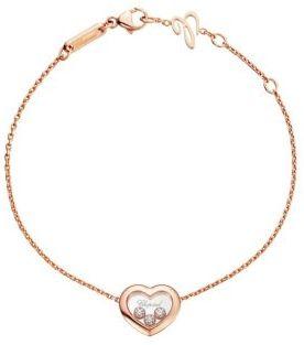 Chopard Happy Diamonds Heart 18K Rose Gold Bracelet