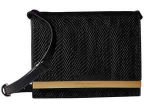 Donna Karan Mally Flap Crossbody Snake Cross Body Handbags