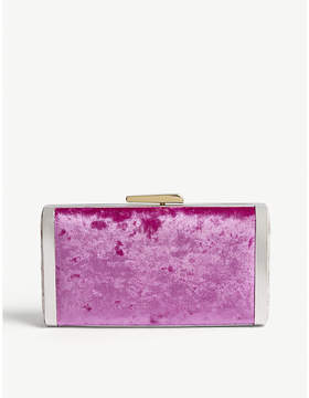 Hayward Fuchsia Pink Velvet Box Clutch Bag