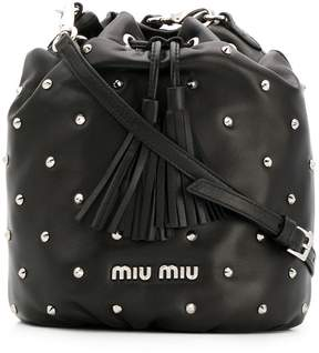 Miu Miu studded bucket bag