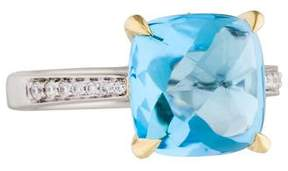 Frederic Sage 18K Blue Topaz Jelly Bean Cocktail Ring