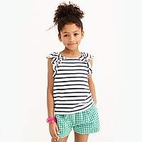 J.Crew Factory Striped ruffle tank top