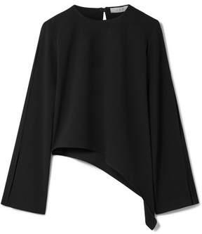 IRO Awefa Asymmetric Cutout Crepe Blouse - Black