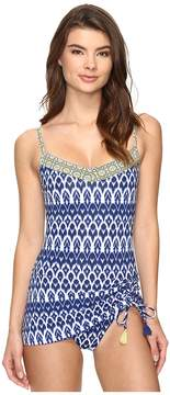 Bleu Rod Beattie Road to Morocco Skirted Over the Shoulder Mio One-Piece Women's Swimsuits One Piece