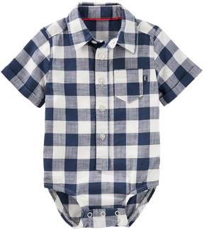 Osh Kosh Oshkosh Bgosh Baby Boy Checked Bodysuit