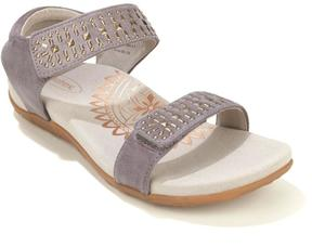 Aetrex Maria Adjustable Strap Studded Sandal with Built-In Lynco Orthotics