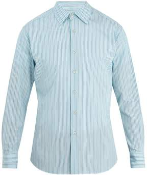 Prada Classic-fit striped cotton shirt