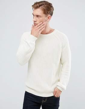 Bellfield Crew Neck Fisherman Knit Sweater
