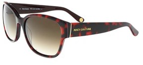 Juicy Couture Juicy 573/s 0eug Havana Red Rectangle Sunglasses.