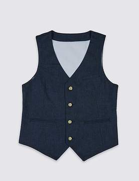 Marks and Spencer Linen Blend Waistcoat (3-14 Years)