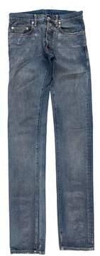 Christian Dior 2008 Metallic Waxed Skinny Jeans
