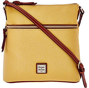 Dooney & Bourke As Is Canvas Crossbody with Leather Trim - ONE COLOR - STYLE