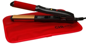 CHI Air Turbo Digital Microchip Ceramic Hairstyling Iron 1 Inch Plates Black/Red