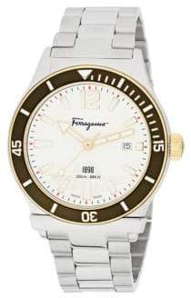 Salvatore Ferragamo Analog Display & Stainless Steel Bracelet Watch