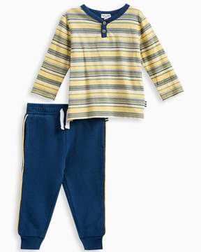Splendid Baby Boy Striped Henley Set