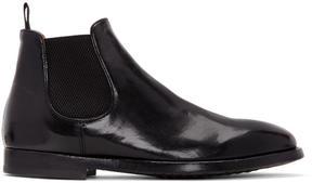 Officine Creative Black Herve Chelsea Boots