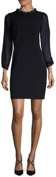 Donna Ricco Women's Embellished-Collar Sheath Dress