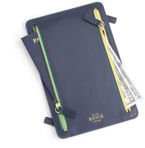 Royce Leather Royce Blue RFID Blocking Four Zip Travel Case