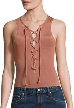 Tularosa Nile Lace-Up Bodysuit