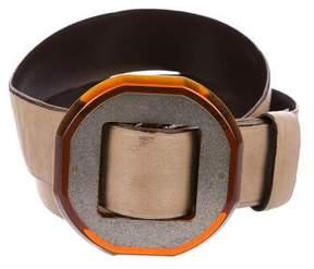Lanvin Wide Leather Belt