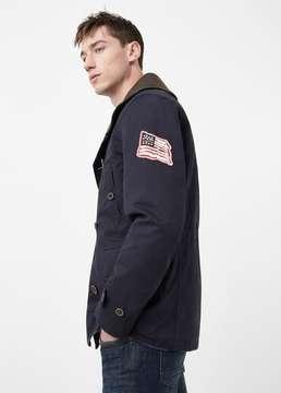 Mango Outlet Cotton-blend canvas jacket