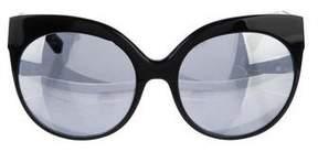 Linda Farrow Cat-Eye Mirrored Sunglasses