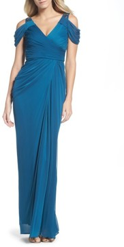 Adrianna Papell Women's Cold Shoulder Gown