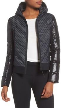 Blanc Noir Women's Chevron Reflective Puffer Jacket