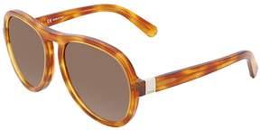 Chloé Grey Gradient Aviator Sunglasses CE716S 725