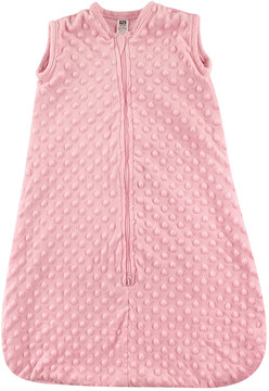 Hudson Baby Pink Dotted Plush Sleeping Bag - Infant