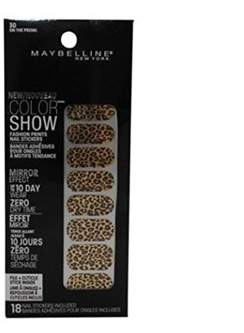 Maybelline Color Show Prints Mirror Effect Nail Stickers, 30, On The Prowl.