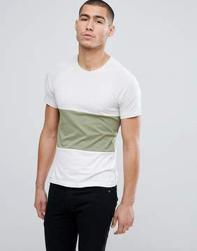 ONLY & SONS Crew Neck T-Shirt In Color Block