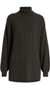 RYAN ROCHE Roll-neck cable-knit cashmere sweater