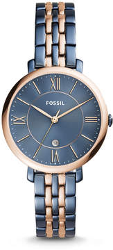 Fossil Jacqueline Three-Hand Date Two-Tone Stainless Steel Watch