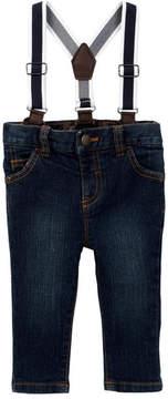 Joe Fresh Suspender Denim Pants (Baby Boys)