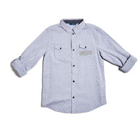 GUESS Long-Sleeve Woven Shirt (7-16)