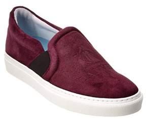 Lanvin Logo Embossed Suede Slip-on Sneaker.