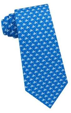 Lord & Taylor The Mens Shop Swimming Fish Silk Tie