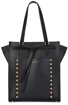 Donna Karan Del Black Studded Leather Tote