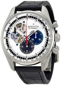 Zenith El Primero Chronomaster Silver Dial Black Leather Men's Watch