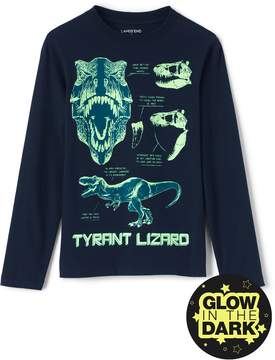 Lands' End Lands'end Boys Husky Glow in the Dark Graphic Tee