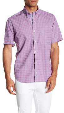Tailorbyrd Short Sleeve Plaid Print Classic Fit Woven Shirt