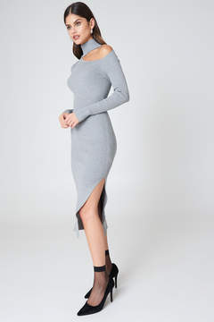 NA-KD Na Kd Side Cut Knitted Dress