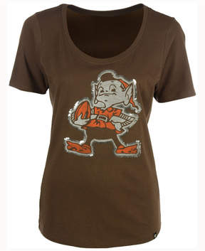 '47 Women's Cleveland Browns Lux Sequins Scoop T-Shirt