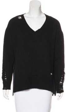 Enza Costa Distressed Oversize Sweater
