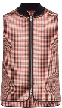 Barena VENEZIA Contrast-trim gingham waistcoat