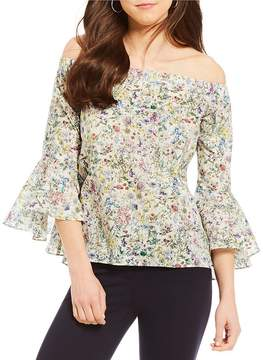 Antonio Melani Off-the-Shoulder Kate Floral Print Bell Sleeve Blouse Made With Liberty Fabrics