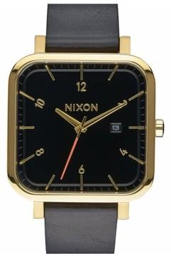 Nixon 'Ragnar' Leather Strap Watch, 40Mm