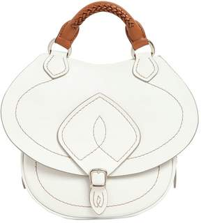 Small Saddle Leather Top Handle Bag