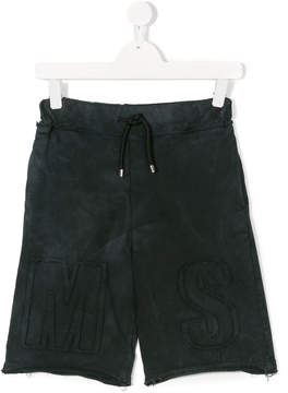 MSGM Teen washed out shorts